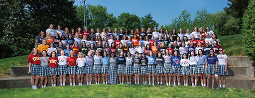 Harpeth Hall Celebrates Seniors on College T-Shirt Day