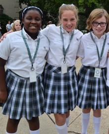 Three Harpeth Hall girls smiling