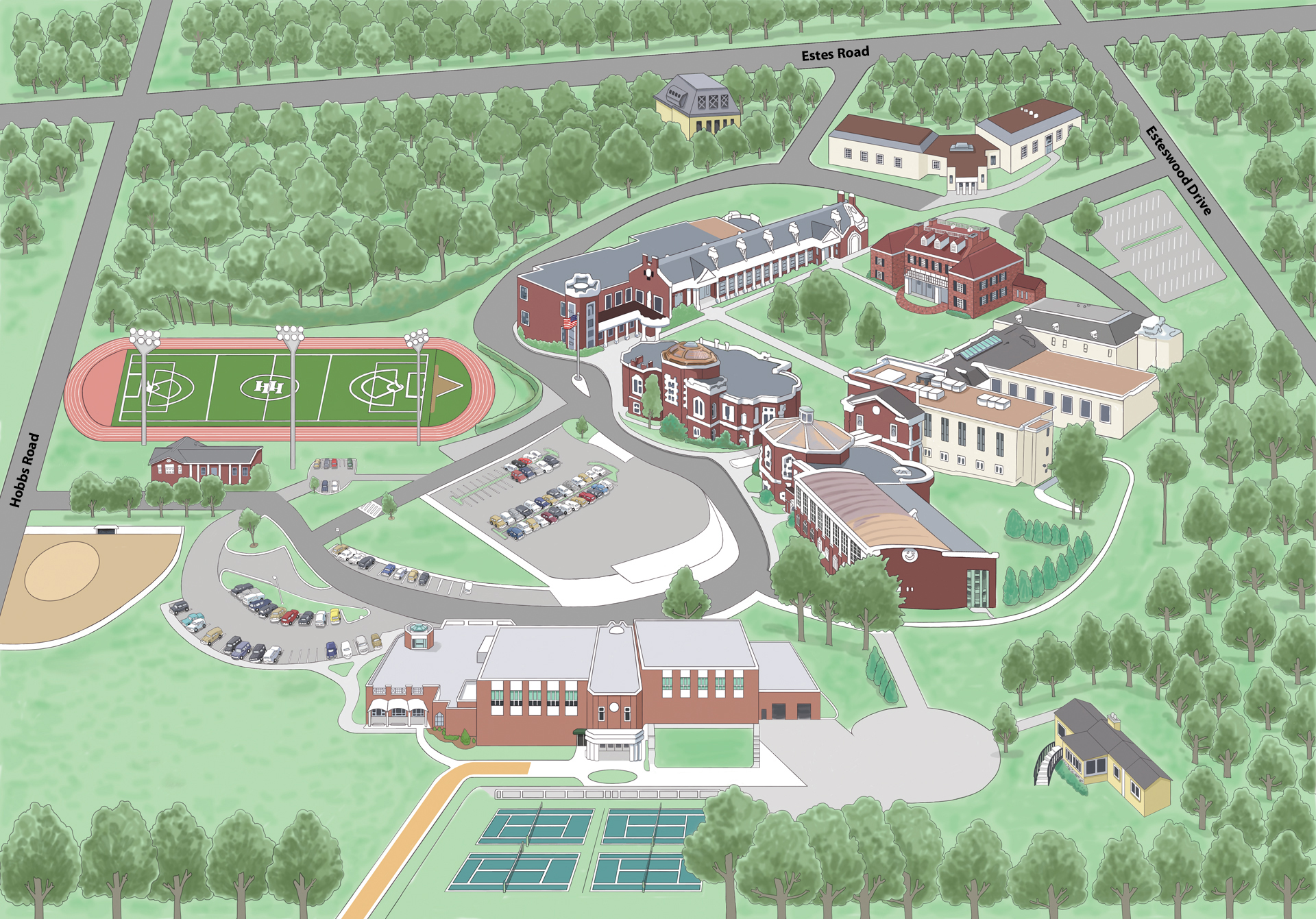 School Campus Map.Campus Map Harpeth Hall School